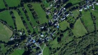 Aerial view of Belstone