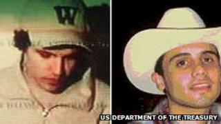 Ivan Archivaldo Guzman (left) and Ovidio Guzman (right) in undated photos on the US treasury department's website