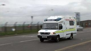 ambulance responding to emergency generic