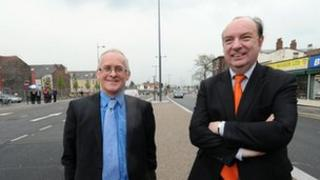 Councillor Malcolm Kennedy and MP Norman Baker