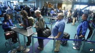 Airport security at Portland, Oregon
