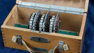 A set of cogs from a WWII Enigma code-breaking machine which were discovered after languishing in a cupboard for up to 30 years