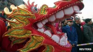 Dragon in a Beijing parade