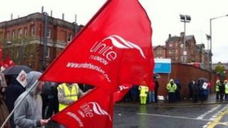 Nipsa members protesting