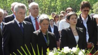 Dignitaries at ceremony