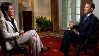Robin Roberts and President Obama