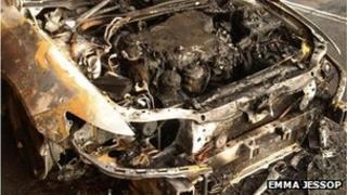 Emma Jessop car fire