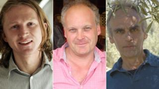 Joe Dunthorne (photo: Angus Muir), Patrick McGuinness and Robert Minhinnick