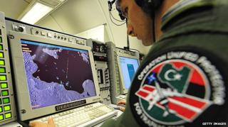 Nato serviceman monitoring the operation in Libya
