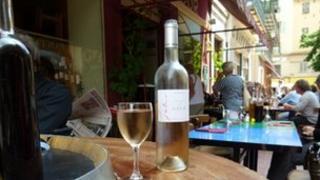European street cafe scene