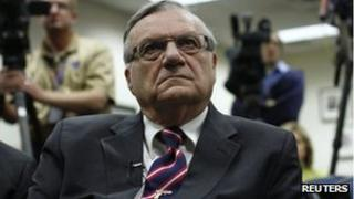 Sheriff Joe Arpaio at a press conference in Phoenix, 1 March 2012