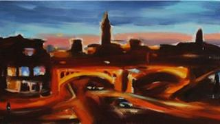 Liam Spencer - Deansgate and Whitworth Street at Twilight