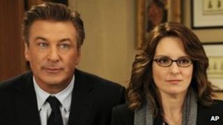 Tina Fey and Alec Baldwin in 30 Rock