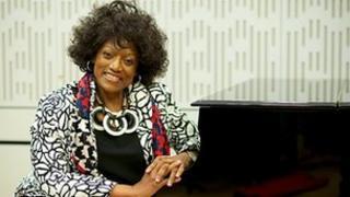 Jessye Norman at the studios of BBC Radio 3