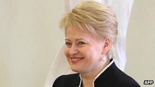 Lithuanian President Dalia Grybauskaite - file pic