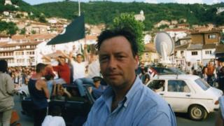 Ross Appleyard in Kosovo in 1999