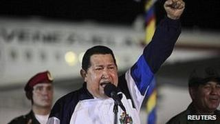 Hugo Chavez returns from Cuba. 11 May 2012