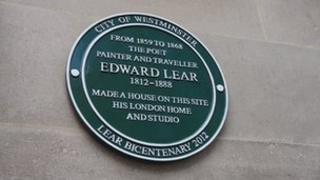 Edward Lear plaque