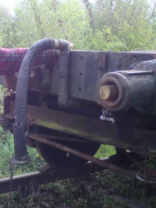 Buffers cut from wagon