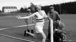 Jenny Priscott's version of her father's image of Roger Bannister