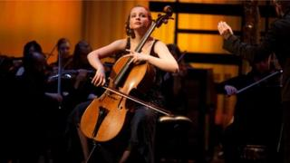 Laura van der Heijden performs at the BBC Young Musician competition