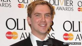 Dan Stevens backstage at this year's Olivier Awards