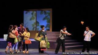 """A performance of Patua play 'Aqui Tem Diabo"""", May, 2012"""
