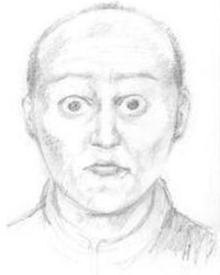 An artist's impression of what of the man the police are looking for.