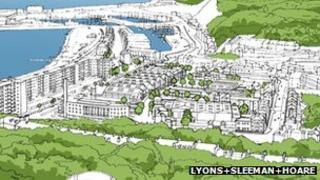 Artists impression of Dover development
