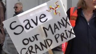 Manx Grand Prix protesters