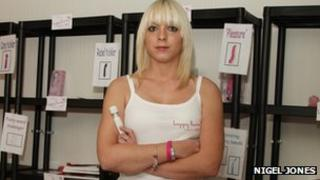 Kylie Jones, 24, manager of Happy Bunny