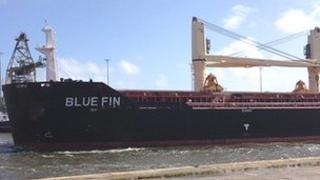 The Blue Fin leaving port