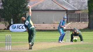 Cricket: Guernsey v Austria at KGV in the 2011 ICC Europe Division One tournament