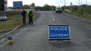 The crash happened on the Lisnevenagh Road, Ballymena