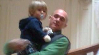 Julian Mynott with his son Freddie