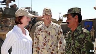 Australian Prime Minister Julia Gillard in Afghanistan (October 2010)