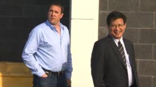 Malky Mackay and club chairman Dato Chan Tien Ghee