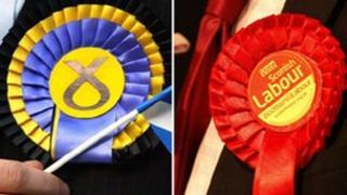 SNP/Labour rosettes