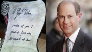 The letter Michael wrote and Prince Edward