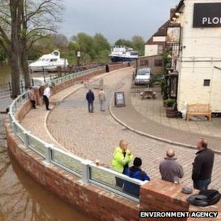 New flood defence wall