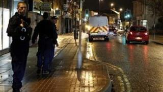 Police on patrol in Rochdale