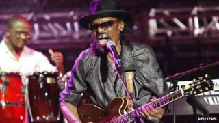 Chuck Brown on stage in 2011