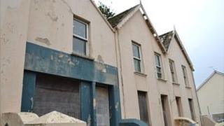 Derelict houses in Vale Avenue, Guernsey