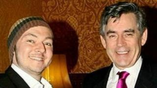 Adrian Sudbury and Gordon Brown