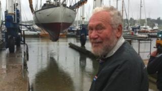 Sir Robin Knox-Johnston at Suhaili