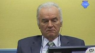 Ratko Mladic at The Hague, 17 May 2012