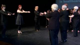 The Black Widows dance group