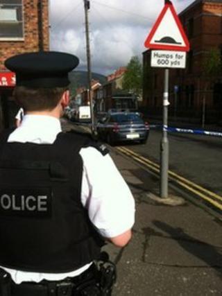 West Belfast security alert