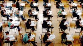 generic pupils sitting exam