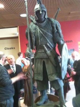 Anglo-Saxon warrior statue